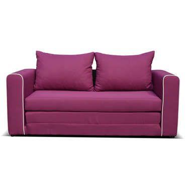 Canapé fixe convertible 2 places en tissu LAURA coloris prune - pas cher ? C'est sur Conforama.fr - large choix, prix discount et des offres exclusives Canapé droit sur Conforama.fr
