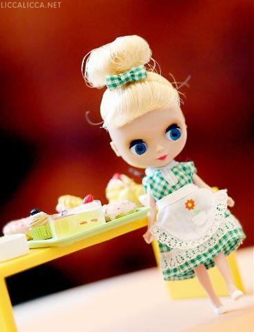 Petite Blythe 'Kitchen Queen'  2 ~ houseofduke @ flickr: Dolls Houses, Blythe Kitchens, Dolls Blythe, Blythe Dolls, Beautiful Blythe, Beautiful Dolls, Kitchens Queen, Blythe Obess, Beloved Blythe