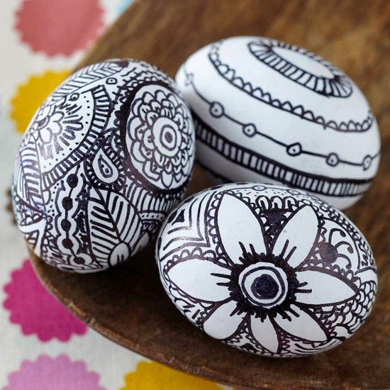 Easy and Fast Pretty Easter Eggs Decoration Ideas : No-Dye
