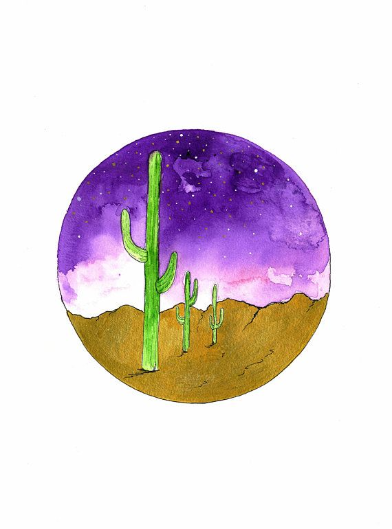 Shop Now! Cactus Art Print - Gallery Wall Cactus Print - Watercolor Cactus Print - Plants Print Illustration - Desert Cactus Art - Cactus Decor #cactus #cactusartprint #desertcactus #cactusillustration #cactusdecor #cactustrend #etsyseller
