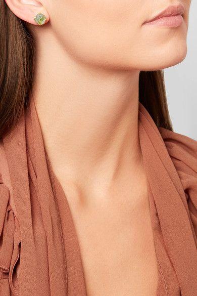 Pippa Small - 14-karat Gold Peridot Earrings - one size
