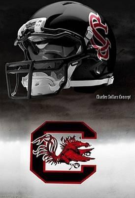 University of South Carolina Gamecocks - concept football helmet
