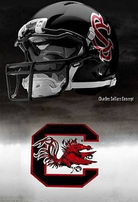 University of South Carolina Gamecocks - concept football helmet