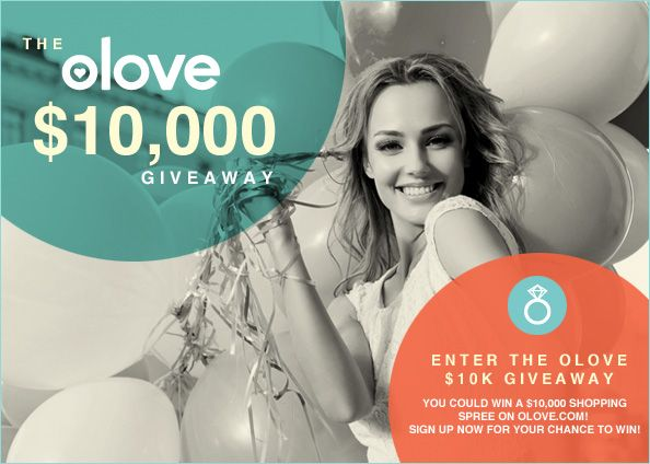 I just entered for a chance to win a $10,000 shopping spree!  Launching this fall, olove.com is a premier shopping website that offers the latest and greatest styles in Jewelry, Watches, Handbags, and Accessories. One winner will get $10,000 to spend on the site - enter now!
