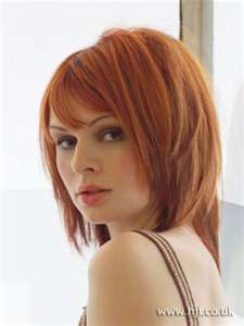 This is rather nice - Medium Length Bob with Bangs - Red