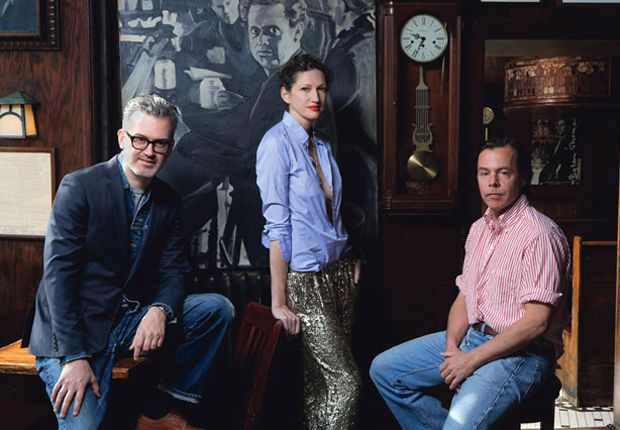 From left: Frank Muytjens, Jenna Lyons, and Andy Spade
