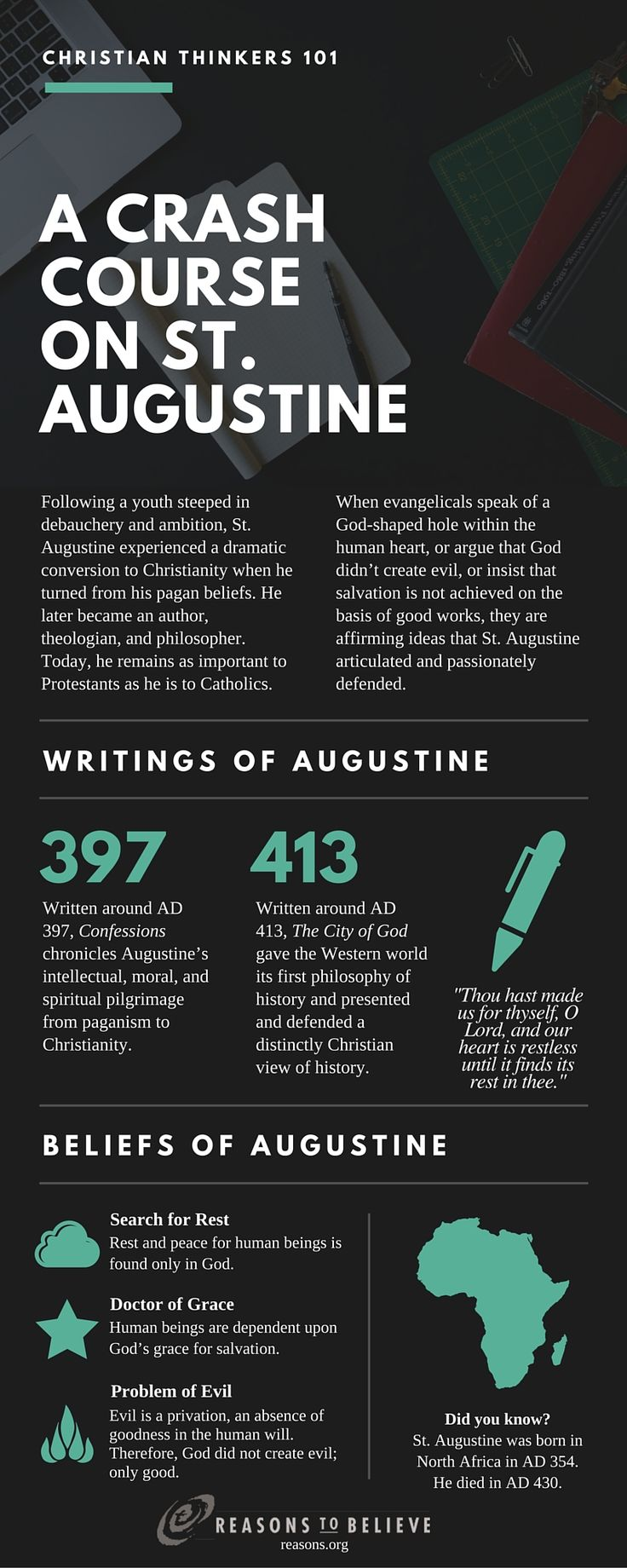 Reasons To Believe : Christian Thinkers 101: A Crash Course on St. Augustine