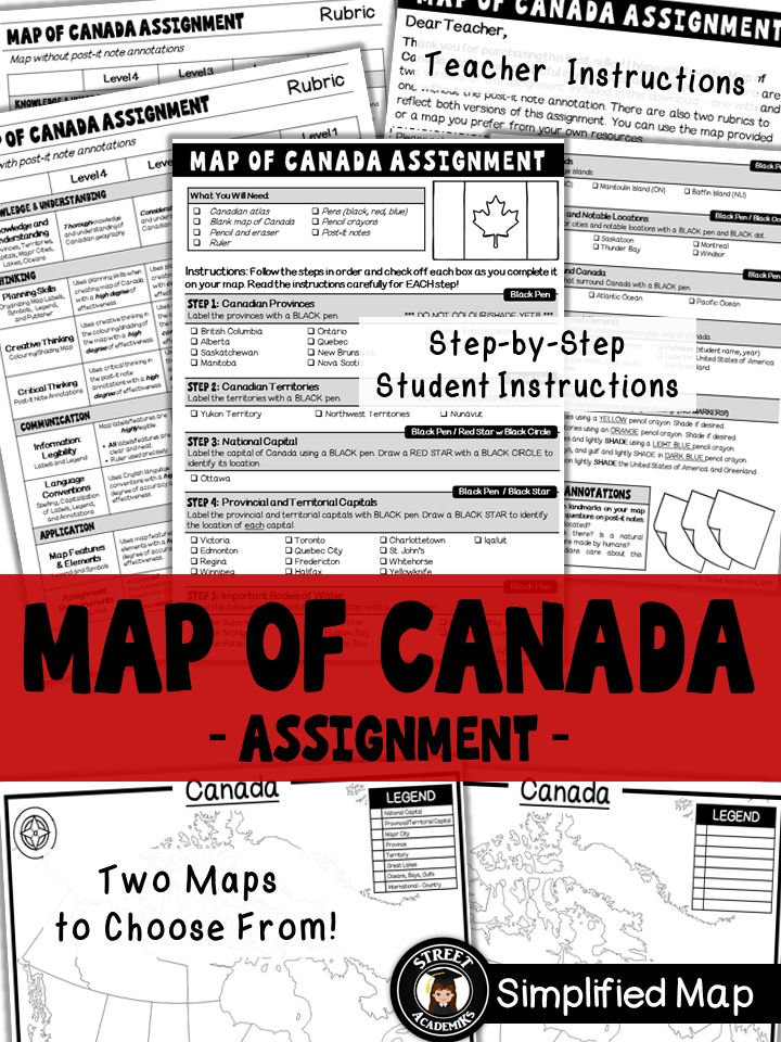 $2.50 - This is a virtually no prep assignment that you can simply photocopy and distribute to students now! The assignment is broken down into 10 steps and is perfect for an applied or academic classroom. The assignment includes a built-in checklist for students to use while completing their maps.