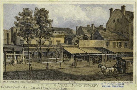 """The Bowery is the oldest thoroughfare on the island of Manhattan. When the Dutch settled there in 1654, they named the path Bouwerij — an old Dutch word for """"farm"""" — because it connected cattle farms and estates on the outskirts to (what is today) Wall Street."""
