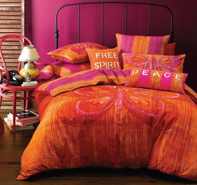 Cathie Maney Free Spirit Quilt Cover Set Range Orange