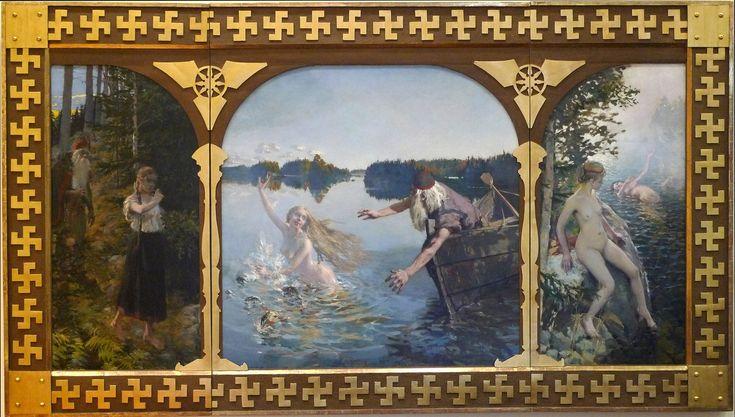 Akseli Gallén-Kallela, Aino-triptyykki, 1889 Suomen Pankin taidekokoelma Kuva Peter Mickelsson