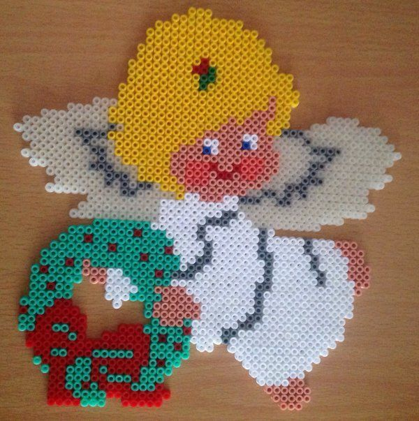 Christmas angel hama perler beads by cathy077