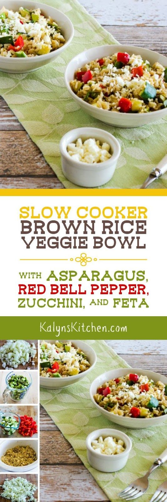 Brown Rice And Veggies Cook Together In The Slow Cooker For This Tasty Slow Cooker  Brown