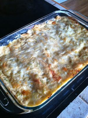 Pioneer Woman's White Chicken Enchiladas