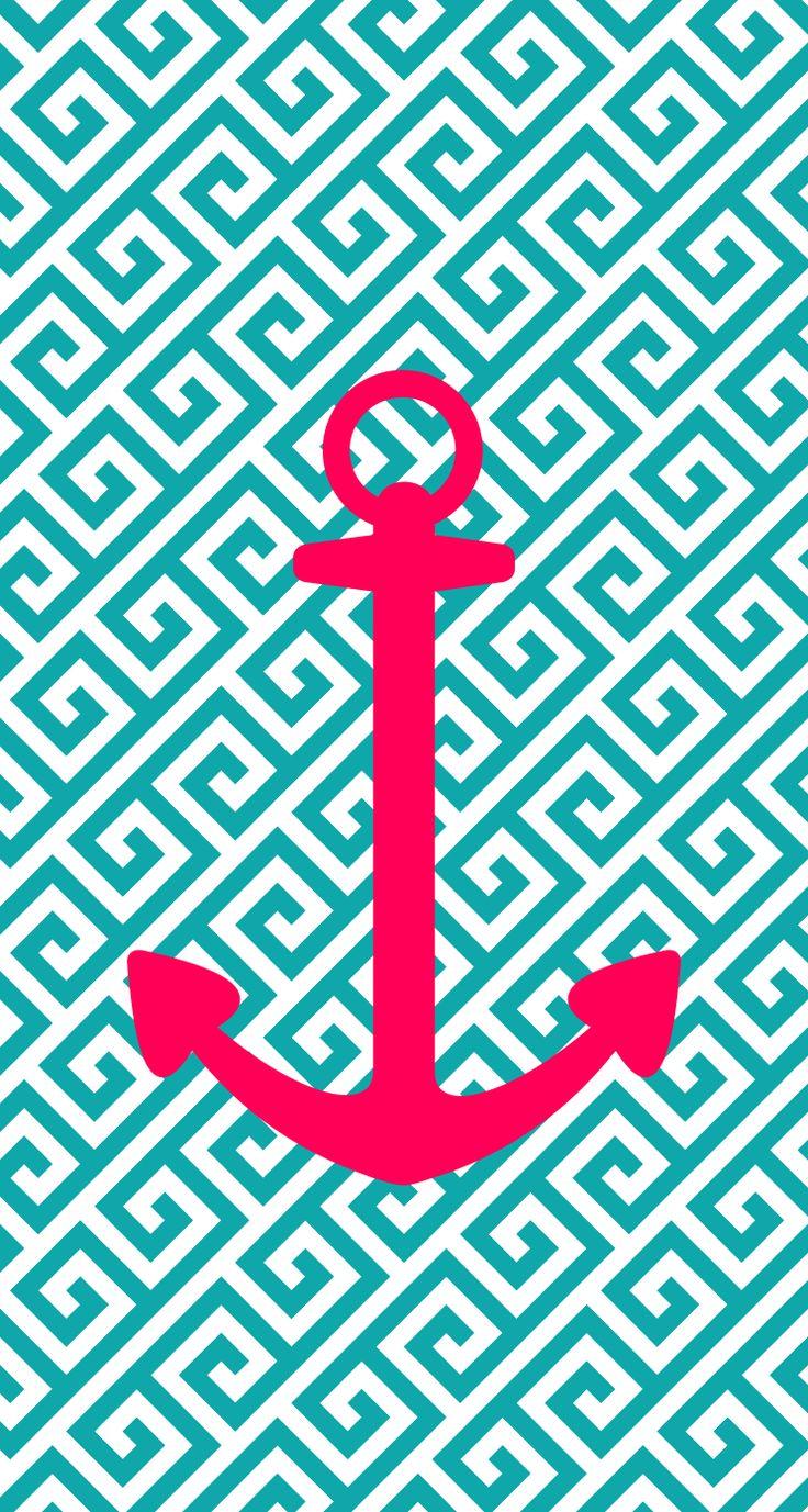 Anchor iphone wallpaper tumblr - Iphone 5 Wallpaper Anchor Pink Blue Aqua Design