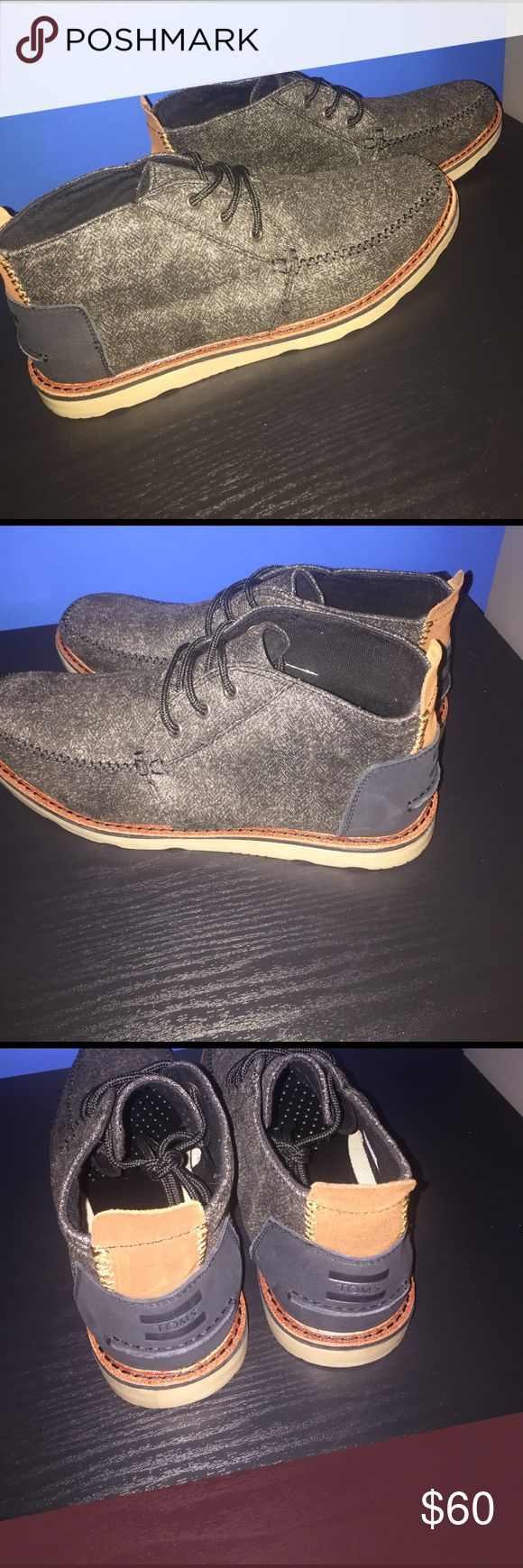 Men's Toms shoes Hello buyers. I am selling these Toms shoes size 11 men.  I have never worn them before. They are in great condition. Asking $60 willing to negotiate TOMS Shoes Chukka Boots