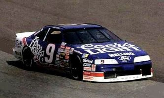I loved this paint job of Bill Elliott's amazing Ford Thunderbird when racing was really good.