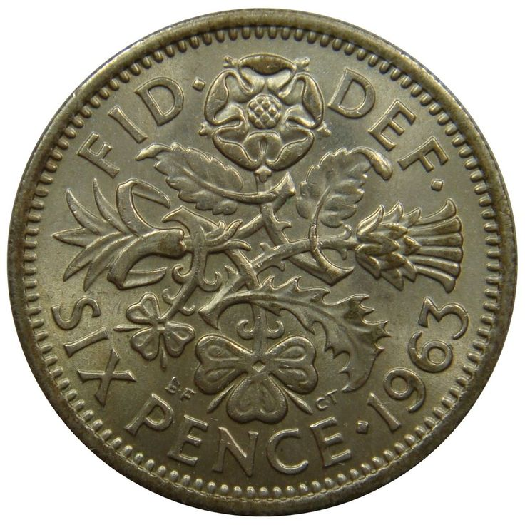 (B31) - Grossbritannien United Kingdom - 6 Pence 1963 Tudor Rose - UNC - KM# 903 #coin #coins #numismatic #numismatics #numismatik #münzen #currency #money #ebay