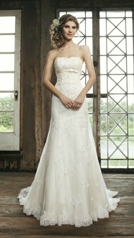 Elegant Wedding Dresses For The Mature Bride : Simple beaded lace wedding dress for mature bride