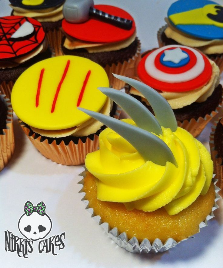 Birthday Party Ideas Augusta Ga: Wolverine Cupcakes - Google Search