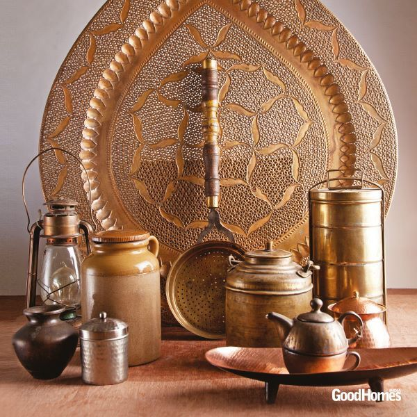 Some common place things used in Indian Homes which can be effectively used to accessorize as home decor. Picked up the image from Good Homes Magazine India. #2