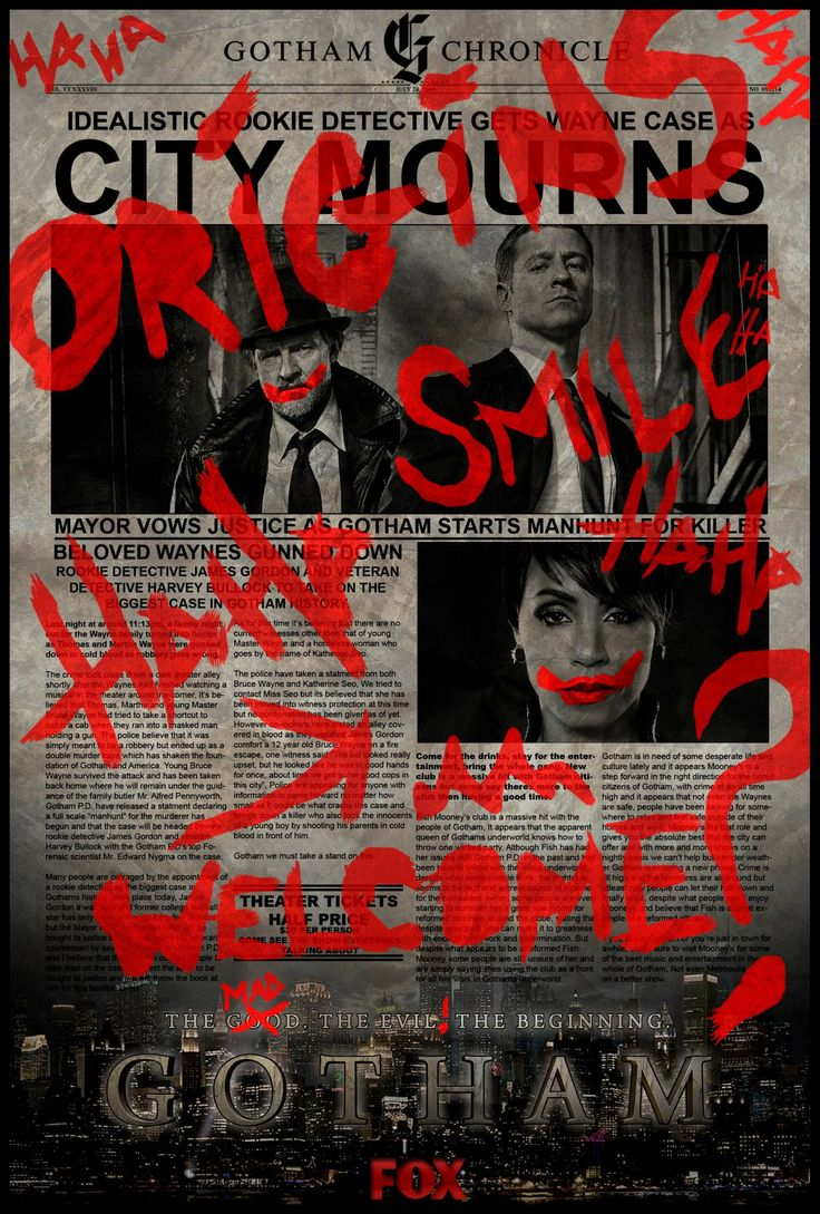 Entered a comp which involved designing a poster that would be used in the Gotham advertising, didn't win (that I'm aware off) I'm amusing I drifted slightly out the guide lines for it but ah well. I like it and thought it was a unique take on the other posters that where going around.
