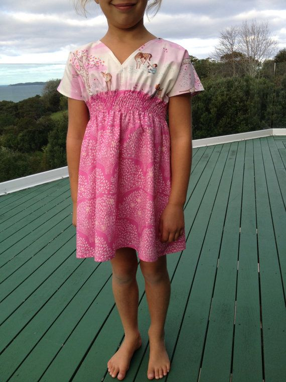 CUSTOM ORDER for Todd - Gorgeous V-neck Shirred Summer Dress - Size 5