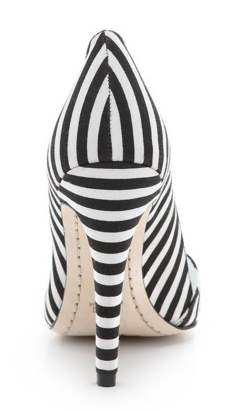 Striped heels! Wear with any Little Black Dresses including ours! #MaggyLondon #Stripes #SummerTrend