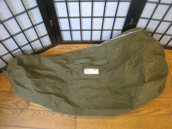 Vintage 1960s Army Style Duffel by East Pak Olive by girlgal6, $50.00