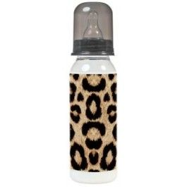 "Rock Star Baby bottle ""Leopard"", cool baby bottle!"