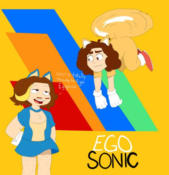 """game grumps aesthetic  """" I really loved watching Arin and Dan play Sonic Mania ^^  decided to do some late fanart!  enjoy, my dudes!    Art © me """""""
