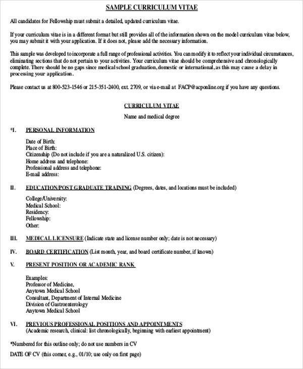 Free 7 Medical Student Cv Samples In Ms Word Pdf Medical Resume Template Medical Assistant Resume Cv Template Word