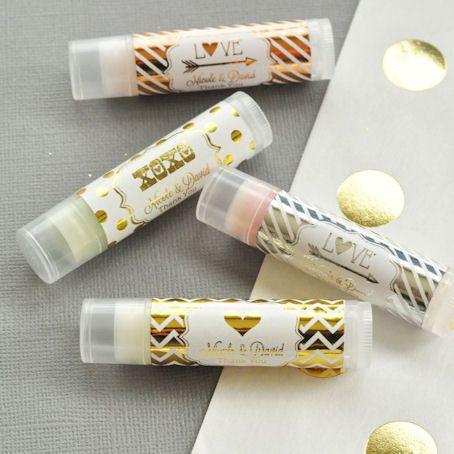 Metallic Foil Lip Balm Tubes (Silver, Gold, Rose Gold) Design Your Own Lip Balm Favors