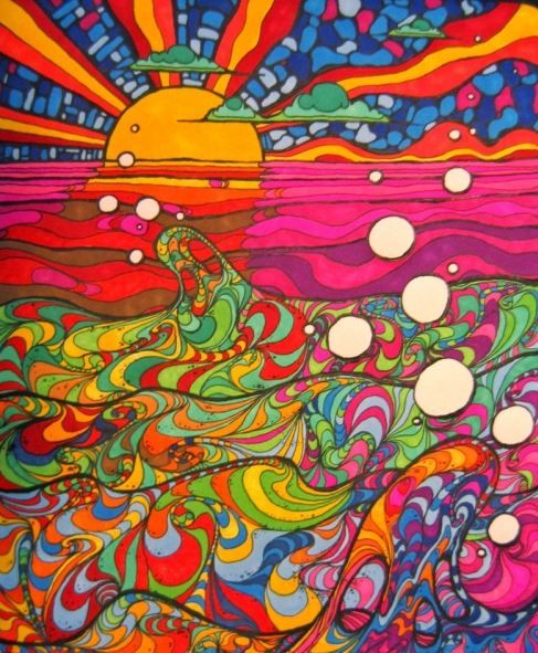Psychedelic 70s art purple haze pinterest sun 60s for Poster psichedelici