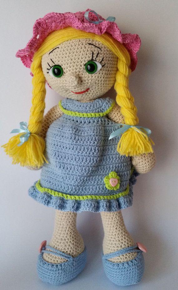 Amigurumi Toys For Babies : Crochet doll, amigurumi doll, crocheted doll toy, handmade ...