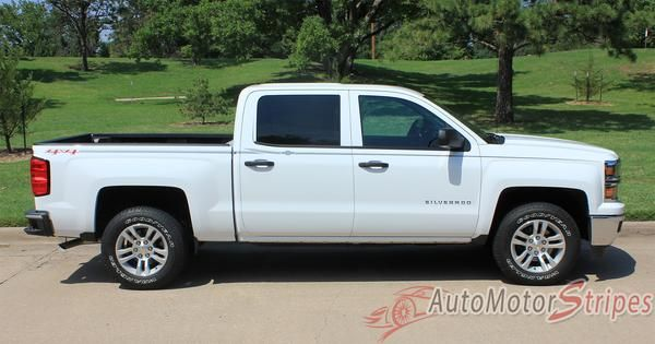 Vehicle Specific Style Chevy Silverado Truck Elite Upper Body Accent Pin Striping Vinyl Graphic Stripe Decals Year Fitment 2013 2014 2015 2016 2017 Contents Dri