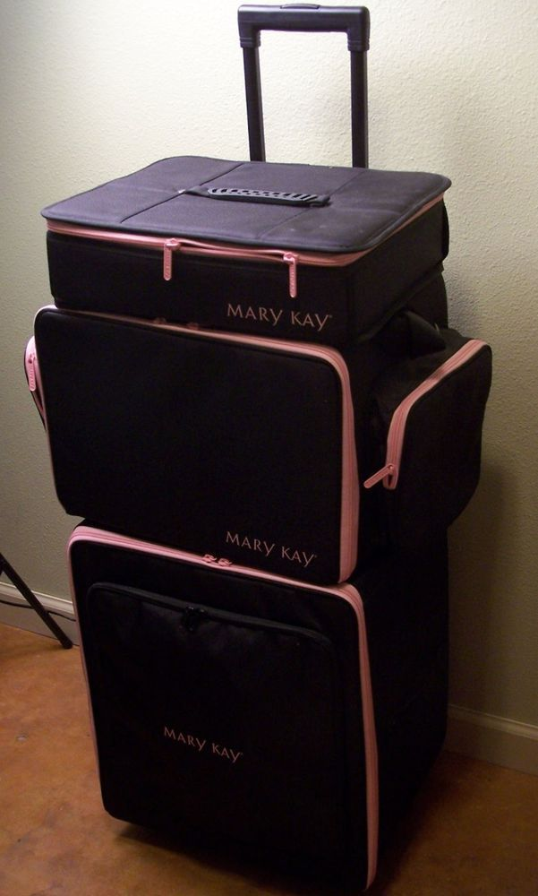 Mary Kay Consultant XL 9 Pc Black Rolling Org Case Eye Shadow Lip Liner Mineral  #MaryKay organizer, makeup case, mineral eye shadow, mineral cheek color, timewise miracle set, mary Kay basic skin care, tinted moisturizer, MK business resources, work from home, stay at home mom, makeup party http://www.ebay.com/itm/Mary-Kay-Consultant-XL-9-Pc-Black-Rolling-Org-Case-Eye-Shadow-Lip-Liner-Mineral-/291523638550