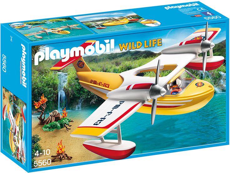 Playmobil 5560 Wild Life самолет борется с огнем