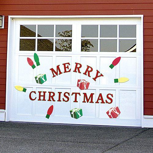 CHRISTMAS GARAGE DOOR DECALS | Get Organized   #holiday #outdoordecor #holidayoutdoordecor