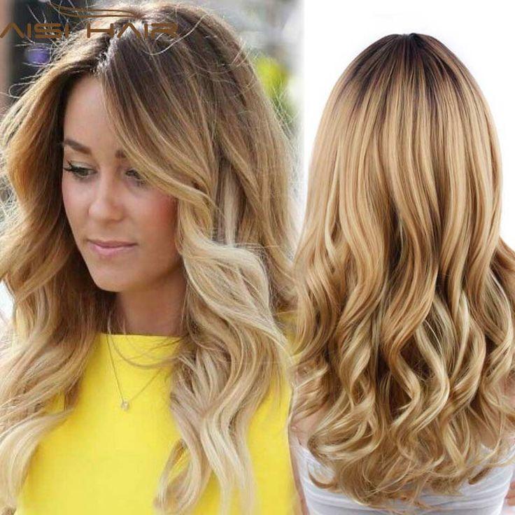 합성 곱슬 가발 긴 곱슬 금발 가발 자연 머리 저렴한 내열 합성 가발 새로운 도착