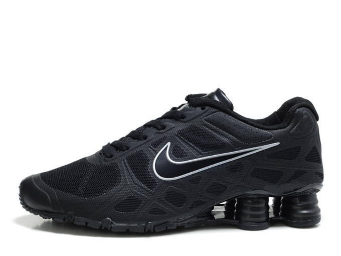 Nike Unisex's Running Shoes Shox Turbo+ IV Black/Black-Metallic Gold