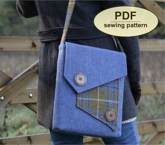 NUEVO patrón de costura para hacer el bolso del por charliesaunt