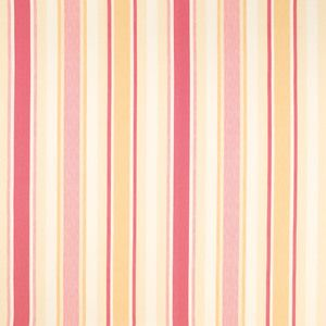 Awning Stripe Pink Grapefruit Curtain Fabric