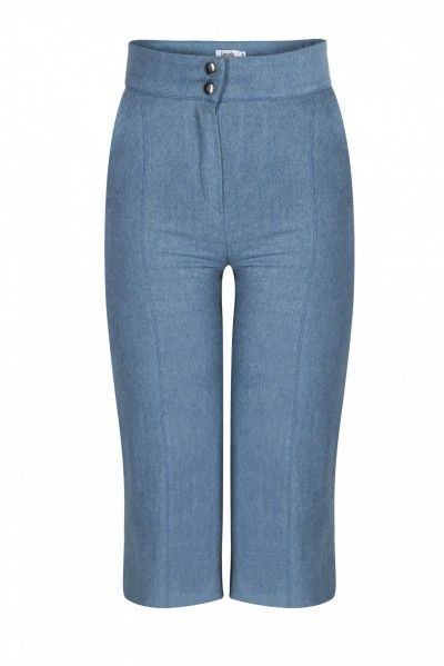 CARMY PANTS - Lend a classic, but fierce charm to your outfit! The Carmy Trousers are cut to sit high on the waist and are shaped with straight, cropped legs which showcase a chic middle stitch. They represent a supremely wearable style – match them with everything from an elegant top to a casual shirt.