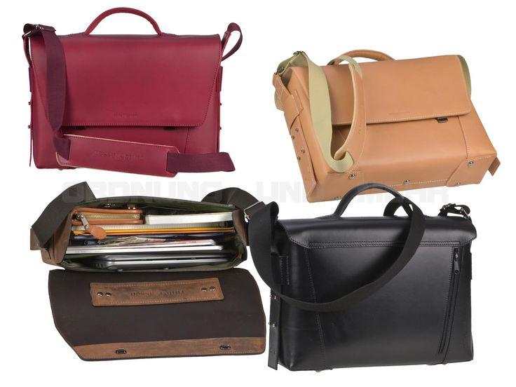 ruitertassen VANGUARD - Sattelleder Aktentasche  Notebooktasche Schultasche mit 2 Fächern - 4 Farben