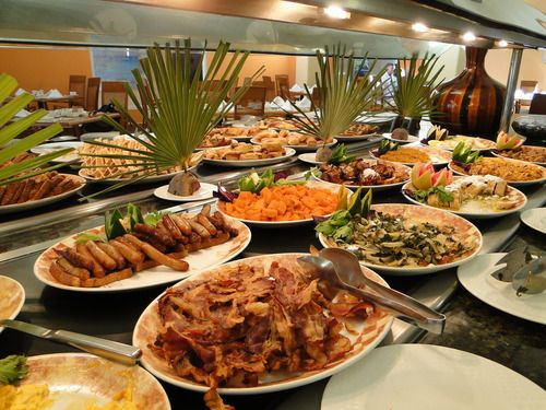 The breakfast buffet at the Hotel La Nera in Bourail was fantastic.