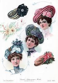 Edwardian ladies hats