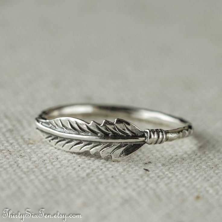Love this!!!!! Thx Danielle! Feather Ring Sterling Silver Stacking by 36ten on Etsy, $32.00