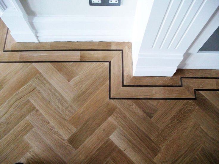 FLOOR DETAIL ON POINT Portfolio > 34 > Istoria Solid Parquet Oak Herringbone Wood Floor With Double Wenge Border   Jordan Andrews