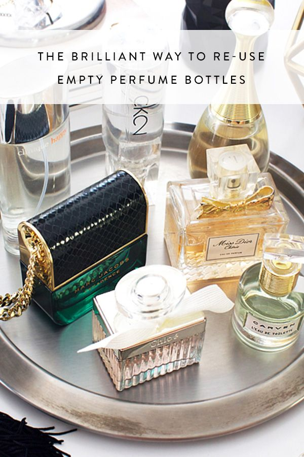 The Brilliant Way to Re-Use Empty Perfume Bottles via @PureWow